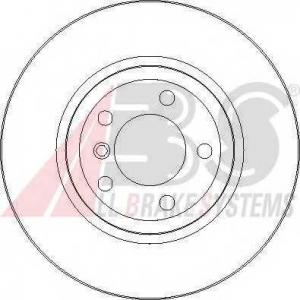 A.B.S. 17025 Тормозной диск Бмв З4