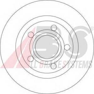 A.B.S. 17057 Тормозной диск Ауди А8