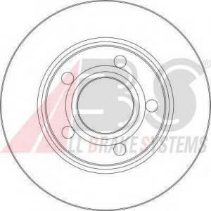A.B.S. 17062 Тормозной диск Ауди Оллроад
