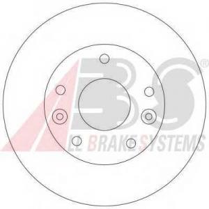 A.B.S. 17066 Тормозной диск Киа Карнивал