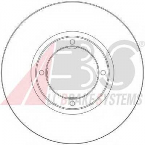 A.B.S. 17067 Тормозной диск Дэу Матиз