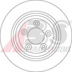 A.B.S. 17078 Тормозной диск Ягуар С Тайп
