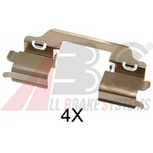 A.B.S. 1707Q Комплектующие, колодки дискового тормоза Фиат Седики