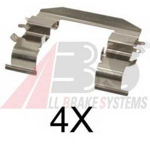 A.B.S. 1708Q Комплектующие, колодки дискового тормоза Хюндай Айикс 20