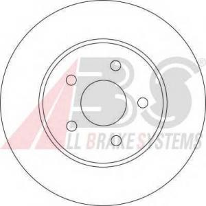 A.B.S. 17116 Тормозной диск Ягуар Икс Тайп