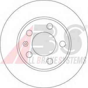 A.B.S. 17194 Диск тормозной SKODA FABIA передн. вент. (пр-во ABS)