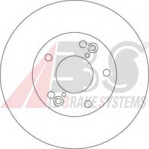 A.B.S. 17206 Тормозной диск Хюндай Иксджей