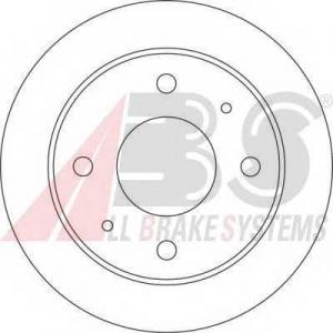 ABS 17209 Тормозной диск