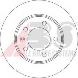 ABS 17331 Тормозной диск задний Master/Movano 305x12x5