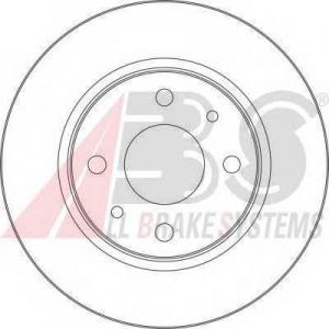 A.B.S. 17339 Диск тормозной ВАЗ 2110 передний вентилируемый R 13 вент. (пр-во ABS)