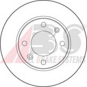 A.B.S. 17357 Диск тормозной CITROEN/PEUGEOT C2/C3/XSARA/307 задн. (пр-во ABS)