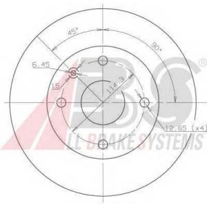 A.B.S. 17414 Тормозной диск Шевроле Нубира