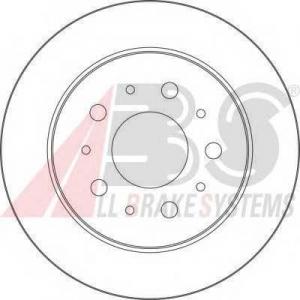 ABS 17461 Тормозной диск задний Jumper/Boxer 1.4T 02->06 280x16x5