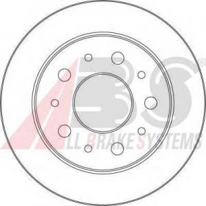 ABS 17462 Гальмiвнi диски
