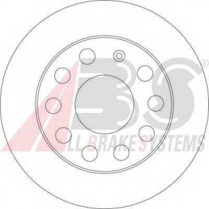 A.B.S. 17520 Тормозной диск Ауди А3