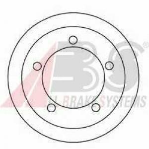 A.B.S. 2405-S Барабан торм. FORD TOURNEO/TRANSIT задн. (пр-во ABS)