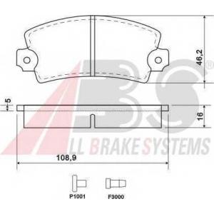 A.B.S. 36042 Комплект тормозных колодок, дисковый тормоз Дача 1310