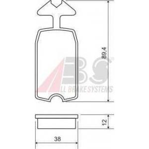 ABS 36046 Brake Pad