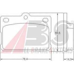 A.B.S. 36072 Комплект тормозных колодок, дисковый тормоз Митсубиси Кольт