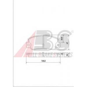 A.B.S. 36081 Комплект тормозных колодок, дисковый тормоз Лансия