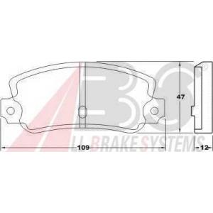 A.B.S. 36084 Комплект тормозных колодок, дисковый тормоз Лансия