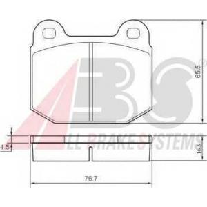 ABS 36090 Гальмiвнi колодки дисковi