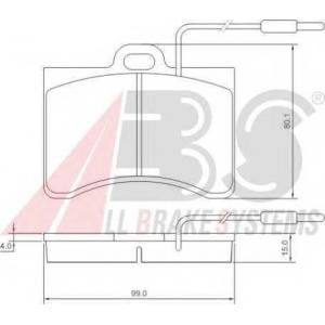 A.B.S. 36099 Комплект тормозных колодок, дисковый тормоз Ситроен Cx