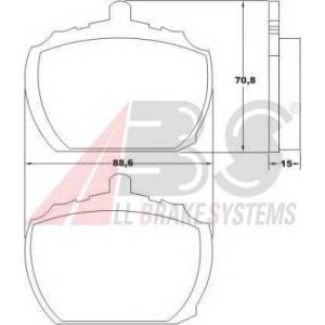 A.B.S. 36102 Комплект тормозных колодок, дисковый тормоз Форд Транзит