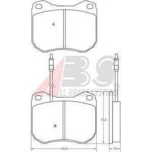 ABS 36107 Brake Pad