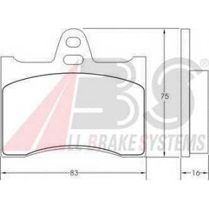A.B.S. 36110 Комплект тормозных колодок, дисковый тормоз Ситроен Cx