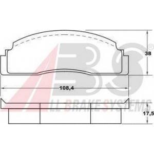 A.B.S. 36113 Комплект тормозных колодок, дисковый тормоз Форд Фиеста