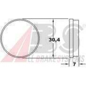 A.B.S. 36114 Комплект тормозных колодок, дисковый тормоз