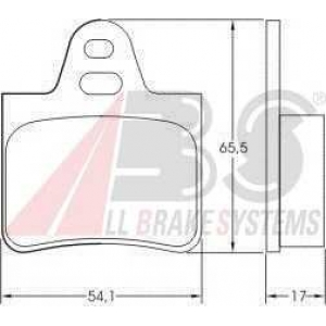 A.B.S. 36129 Комплект тормозных колодок, дисковый тормоз Ситроен Cx