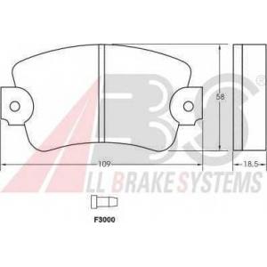 A.B.S. 36131 Комплект тормозных колодок, дисковый тормоз Рено Трафик