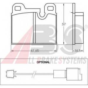 A.B.S. 36134 Комплект тормозных колодок, дисковый тормоз Бмв 7
