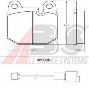 A.B.S. 36140 Комплект тормозных колодок, дисковый тормоз Бмв 3