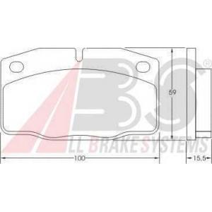 A.B.S. 36145 Комплект тормозных колодок, дисковый тормоз Опель Аскона