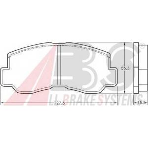 A.B.S. 36151 Комплект тормозных колодок, дисковый тормоз Митсубиси Л 300