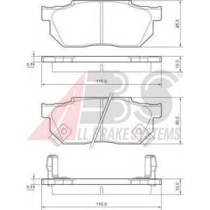 A.B.S. 36167 Комплект тормозных колодок, дисковый тормоз Хонда Црх