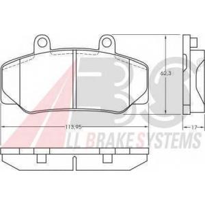 ABS 36177 Комплект тормозных колодок, дисковый тормоз