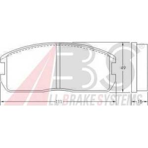 A.B.S. 36178 Комплект тормозных колодок, дисковый тормоз Митсубиси Кольт
