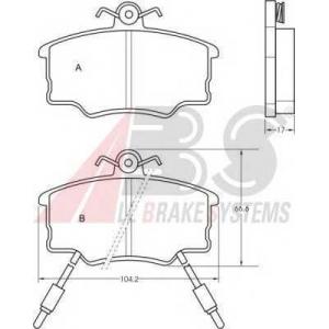 A.B.S. 36185 Комплект тормозных колодок, дисковый тормоз Лансия