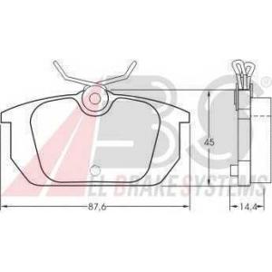 A.B.S. 36188 Комплект тормозных колодок, дисковый тормоз Фиат Барчетта