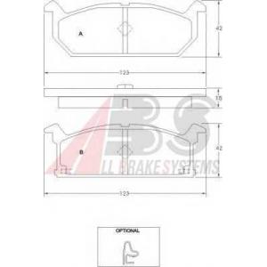 A.B.S. 36189 Комплект тормозных колодок, дисковый тормоз Крайслер Вижн