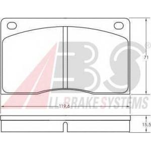 A.B.S. 36341 Комплект тормозных колодок, дисковый тормоз Ягуар
