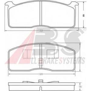 ABS 36368 Brake Pad