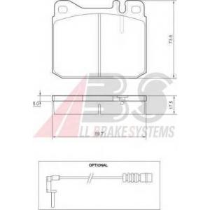 A.B.S. 36418 Колодка торм. MB 200/300/400/500 передн. (пр-во ABS)