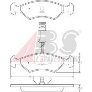 A.B.S. 36459 Комплект тормозных колодок, дисковый тормоз Форд Фиеста