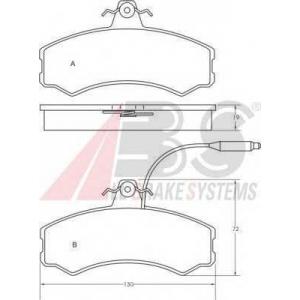 A.B.S. 36470 Колодка торм. FIAT DUCATO передн. (пр-во ABS)
