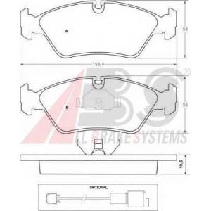 A.B.S. 36488 Комплект тормозных колодок, дисковый тормоз Бмв 6